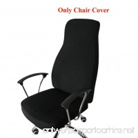 Ozzptuu Spandex Elastic Chair Cover Durable Pure Color Split Thin Section Chair Covers for Computer Office Desk (Black) - B073Y6CT66