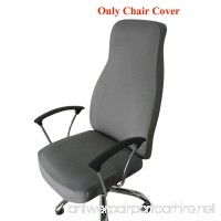 Ozzptuu Spandex Elastic Chair Cover Durable Pure Color Split Thin Section Chair Covers for Computer Office Desk (Grey) - B073Y6CZXF