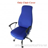 Ozzptuu Spandex Elastic Chair Cover Durable Pure Color Split Thin Section Chair Covers for Computer Office Desk (Royal Blue) - B073Y8MGP5