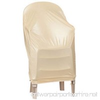 """Patio Stackable Chairs Cover - Beige - 24"""" L x 24"""" W x 35"""" H - B01NAVO00H"""