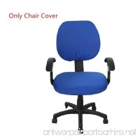 Pure Color Polyester Rotating Chair Cover Doptou Universal Computer Office Stretch Chair Slipcover Machine Washable Chair Protector Cover (Royal Blue) - B0755KQY3L