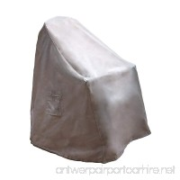 Reusable Revolution Stackable Chair Cover - Water Resistant Outdoor Patio Furniture Cover (Light Grey) - B07C5WX8CS