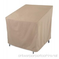 SunPatio Outdoor Club Chair Cover Lightweight Water Resistant Eco-Friendly Helpful Air Vents All Weather Protection Beige 33.5 L x 37 W x 36 H - B01F8LFHZS