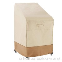Villacera 83-DT5784 7318 Stackable Chairs Cover  Beige and Brown - B0161JCYVG