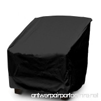 WOMACO Patio Chair Cover Out Furniture Protector Weather & waterproof Patio Cover (L  Black) - B07FCJTYTL