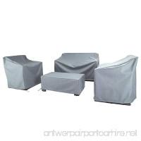 Baner Garden N87 4-piece Outdoor Veranda Patio Garden Furniture Cover Set with Durable and Water Resistant Fabric (Grey) - B0734XQ4Q1