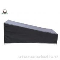 COBANA Patio Furniture Recliner Set Cover Lounge Chaise Cover 84 (L) x34 (W) x34/17(H) in Waterproof (84 (L) x34 (W) x34/17(H) in) - B01LWPDNT9