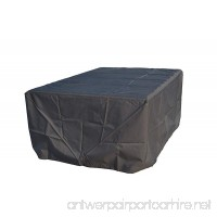 Direct Wicker Rectangular Patio Table & Chair&Sofa Set Cover - Durable and Water Resistant Outdoor Furniture Cover black Large up to 94Inches Long (94x75x35 inches) - B071SH9WBM