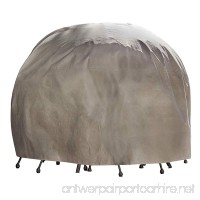 Duck Covers Elite Round Patio Table & Chair Set Cover with Inflatable Airbag to Prevent Pooling  90-Inch - B008ERLIZW