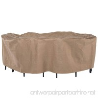 Duck Covers Essential Rectangular/Oval Patio Table & Chair Set Cover  Fits Outdoor Rectangular/Oval Patio Table and Chair sets 96 in. Long - B00MY83B6G