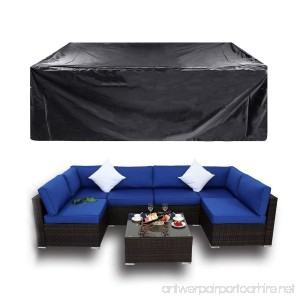 Essort Furniture Covers Garden Furniture Cover Patio Cover Waterproof Sofa Set Cover Garden Outdoor Patio Seater Corner Sofa Cover Table Chairs PVC 213x123x74cm - B07BT588LH