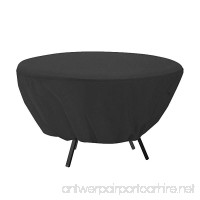 Mitef Waterproof Round Patio Table Cover - Outdoor Furniture Cover(50 inch Black) - B07D5VYDHT
