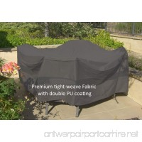 "Premium Tight Weave Chat set  Deep Seating patio Set Cover 104"" Dia. x 31""H in Grey - B01ENXKJ2S"