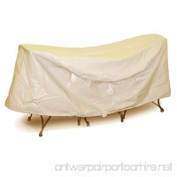 Protective Covers Weatherproof Patio Table and Chair Set Cover 30 Inch x 36 Inch Round Table Tan - B00B7YLCNW