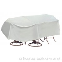 Protective Covers Weatherproof Patio Table and Chair Set Cover  48 Inch x 54 Inch  Round Bar Table  Gray - B000FPYZ0Q