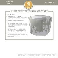TK Classics Pub Furniture Set Outdoor Protective Cover Beige - B010RIH38Q