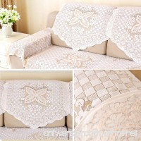 yazi Cotton Lace Sofa Throw Cover Loveseat Armchair Slipcovers Furniture Protector Sofa Back Covers Lace Table Sofa Doily 25 inch by 29 1/2 inch Butterfly Flower - B071DKDL5Z