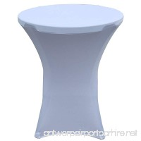 "32 Round x 43"" Tall Spandex Fitted Table Cover for Folding Bar Height Tables (White) - B078GV1ZDY"