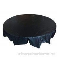 8-Pack Plastic Table Cover. 84 inch. Round.Solid Color-Black - B078L4FYX8