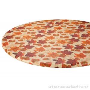 Autumn Leaves Elasticized Vinyl Table Cover - B01M0555ZQ