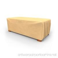 Budge All-Seasons Slim Patio Ottoman Cover / Coffee Table Cover Large (Tan) - B005PW09B8