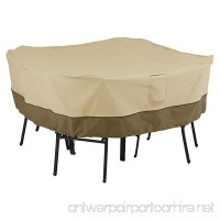 Classic Accessories Veranda Patio Square Table and Chairs Cover for 4-Chair - Durable and Water Resistant Patio Set Cover (55-227-011501-00) - B00HNJVWW6