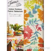 Fiesta Garden Floral Umbrella Tablecloth Zippered Outdoor Fabric (70 Round Umbrella) - B07BYGJCJG