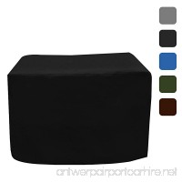 """Fire Pit Outdoor Covers - Waterproof  100% UV Resistant Square Fire Pit Cover  18Oz PVC Fabric with Air Pockets and Drawstring for Snugfit to Withstand Winds & Storms. 30""""L x 30""""W x 12""""H  Black - B07F6YM51Y"""