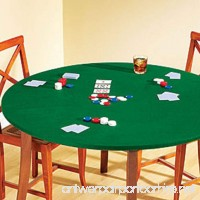 Fitted Round Elastic Edge Solid Green Felt Bistro High Top Table Size Fits 24 to 33 Table Cover for Poker Puzzles and Board Games - B073QVHMGW