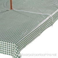 "Gingham Zippered Umbrella Table Cover - 60"" X 90"" Oblong - Green - B00ARP8ZFU"