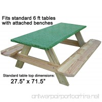 Go Granite Fitted Picnic and Banquet Table Cover Green - B079KKYZG8