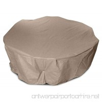 KoverRoos III 31262 80-Inch Round Table High Back Dining Set Cover 114-Inch Diameter by 36-Inch Height Taupe - B002YH3BOO