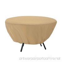 Mitef Waterproof Round Patio Table Cover - Outdoor Furniture Cover(50 inch  Beige) - B07D5XBYYW