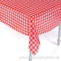 Plastic Red and White Checkered Tablecloths - 12 Pc - Picnic Table Covers - B0743N5B17