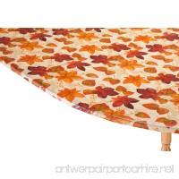 "WalterDrake Autumn Leaves Elasticized Vinyl Table Cover 42"" x 68"" Oval/Oblong - B01M144K4T"