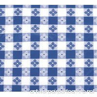 Winco TBCO-70B Checkered Table Cloth  52-Inch x 70-Inch  Blue - B0037XDTWI