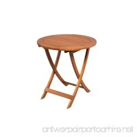 Adelaide Eucalyptus 27 in. Round Folding Patio Bistro Table - B00P4FWTJ6