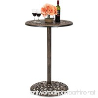 Best Choice Products Outdoor Bar Height Cast Aluminum Bistro Table (Copper) - B075H2M8CJ