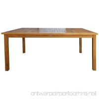 CHIC TEAK Teak Bistro Rectangular Patio Dining Table - 55 x 36 - made by - B07G4DR6B5