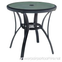 Hampton Bay Commercial Grade Aluminum Brown Round Outdoor Bistro Table - B079J47QDX