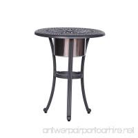 iPatio Athens 22 inch Round Ice Bucket Table - B073P2QLQX