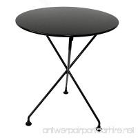 "Mobel Designhaus French Café Bistro 3-leg Folding Bistro Table  Jet Black Frame  24"" Round Metal Top x 29"" Height - B009P2Y4EC"