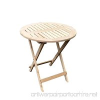 Slivery Folding Hardwood Bistro table Garden Patio Table - Superb Quality - B0756YD2WD