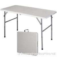 4' Folding Table Portable Indoor Outdoor Picnic Party Dining Camp Tables Utility - B00OT9Y9BY