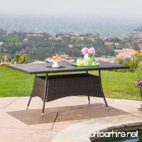 GDF Studio Manteo Multi Brown PE Rectangle Dining Table - B01N79ZW4M