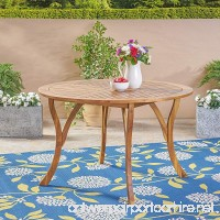 """Great Deal Furniture Adn Outdoor 47"""" Round Acacia Wood Dining Table  Teak - B07D7MHZHP"""
