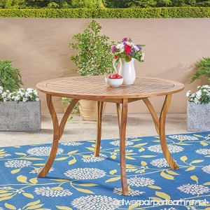 Great Deal Furniture Adn Outdoor 47 Round Acacia Wood Dining Table Teak - B07D7MHZHP