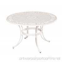 Home Styles 5552-32 Biscayne Round Outdoor Dining Table  White Finish  48-Inch - B007PLXCL6