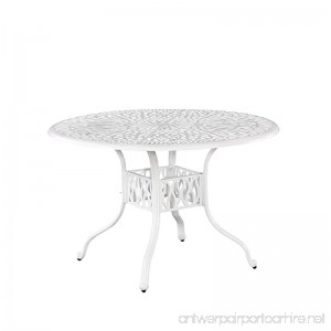 Home Styles 5562-32 Floral Blossom Round Outdoor Dining Table 48 - B019YY5O3K
