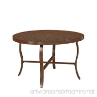 Home Styles 5701-32 Key West Round Outdoor Patio Dining Table  Chocolate Brown - B06XCJCG4Q